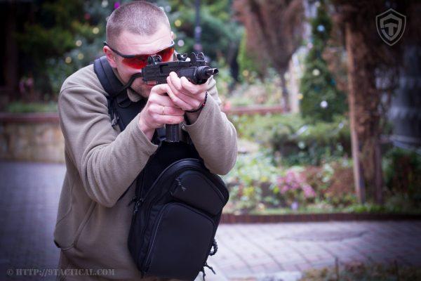 Cумка кобура для пистолетов пулемётов и SMG. 9Tactical Sling LQB CARBONE Grey.