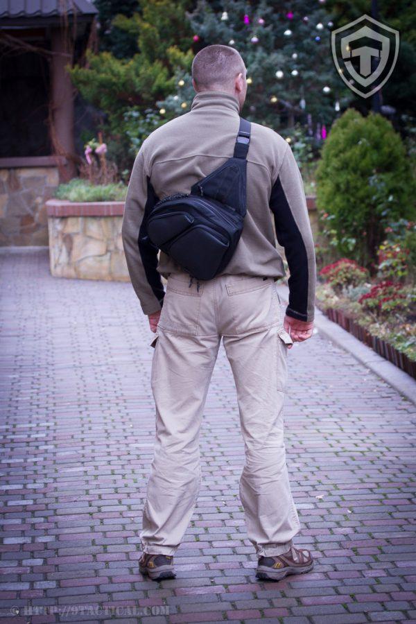 Sling SQB. Пистолетная сумка для скрытого ношения оружия. Чёрная.