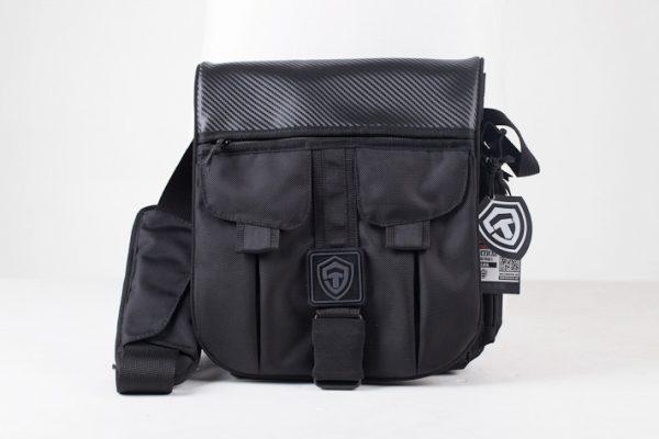 Сумка для пистолета Casual Bag L 2017. Глянцевый карбон. ЧЁРНАЯ.