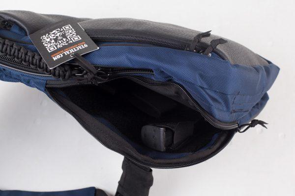 9Tactical Sling LQB Navy Blue. Синяя. Оружейная сумка, аптечка, бронезащита.