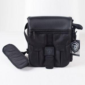 Сумка для пистолета Casual Bag M 2017. Глянцевый карбон. ЧЁРНАЯ.