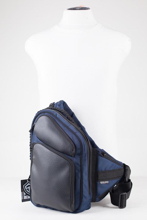 Купить сумку для скрытого ношения оружия 9Tactical Sling MQB Navy Blue. Синяя.