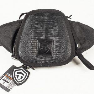Поясная сумка для пистолета Casual Bag S MINI Black Alligator. Чёрная. Крокодил.