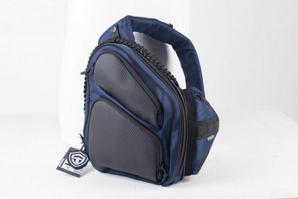 Купить сумку для оружия 9Tactical Sling SQB Blue Carbon. Синяя.