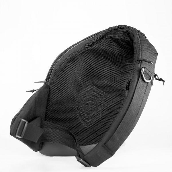 Оружейная сумка кобура, аптечка, бронезащита. 9Tactical Sling LQB CARBONE Black. Чёрная.