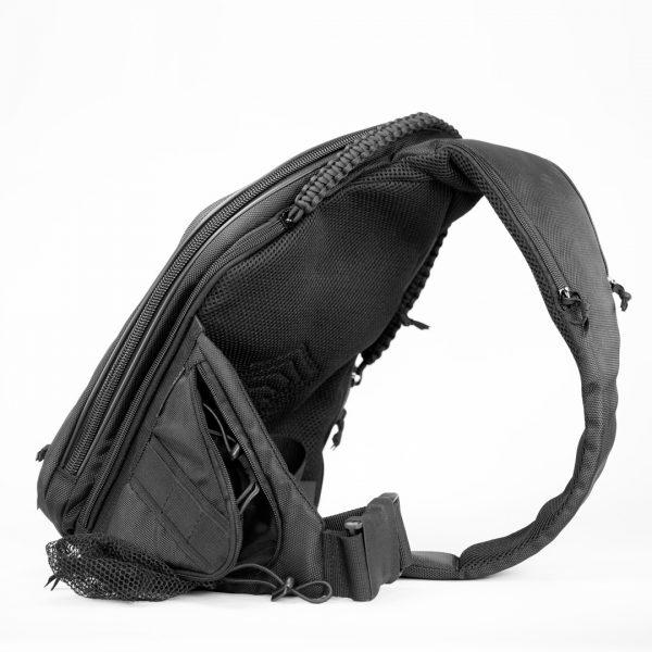 Сумка кобура для скрытого ношения оружия Sling MQB CARBONE Black. Чёрная.