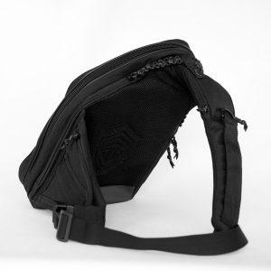 Сумка для скрытого ношения оружия Sling MQB CARBONE Black. Чёрная. (КОРДУРА, РАСПРОДАЖА!!!)