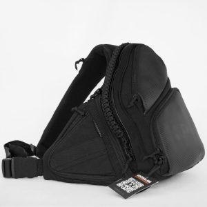 Мужская сумка через плечо 9Tactical Sling SQB Black Carbon КОРДУРА. РАСПРОДАЖА!!!