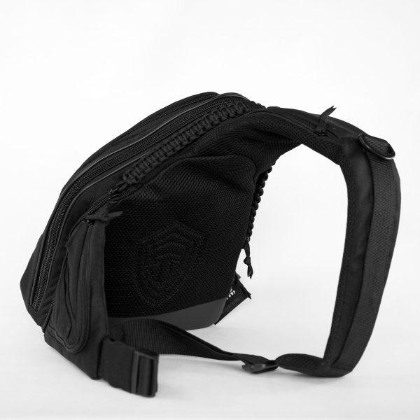 РАСПРОДАЖА!!! Мужская сумка на правое плечо 9Tactical Sling SQB Black Carbon КОРДУРА.