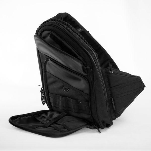 Профессиональная сумка кобура, аптечка. 9Tactical Sling LQB CARBONE Black. Чёрная.