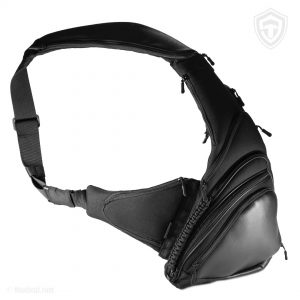 Pangolin Mini ECO Leather Black. Сумка для пистолета. Чёрная.