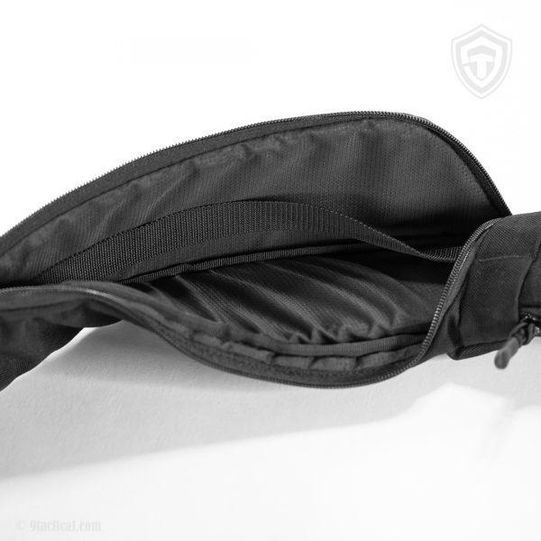 Pangolin Mini ECO Leather Black. Чорна сумка для пістолета.