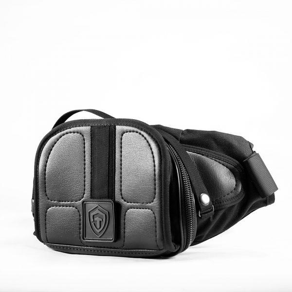 Поясная сумка для пистолета Casual Bag S ECO Leather. Черная.