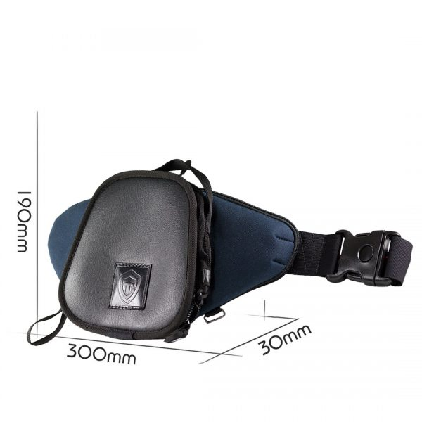 Casual Bag S MINI ECO Leather. Сумка для пистолета поясная. Синяя.