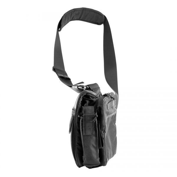 Мужская сумка через плечо Casual Bag M 2018 для пистолета. ЧЁРНАЯ.