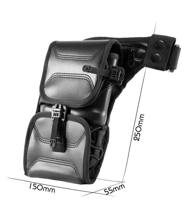 Easy Holster Bag ECO Leather. Сумка-кобура для пистолета. Чёрная.
