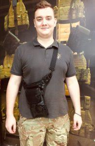 Сумка-кобура для пистолета. Easy Holster Bag ECO Leather. Чёрная.