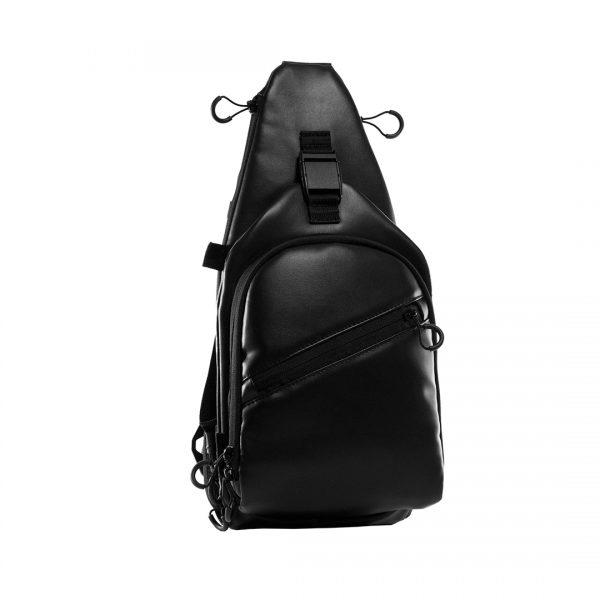 Тактическая слинг сумка для города 9TACTICAL Piligrim S 2018 EL Black. Чёрная.