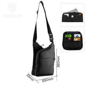 City Bag M Kit. Чёрная мужская сумка для пистолета и EDC.