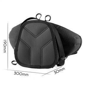 Casual Bag S MINI Y. Чорна сумка на пасок для зброї.