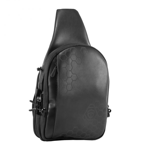 Piligrim Black С. Чёрная мужская сумка слинг.